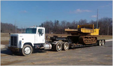 Truck with Lowboy Trailer