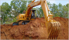Earth Moving with Excavator